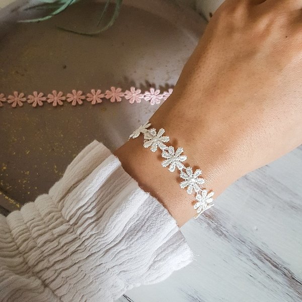 Armband - Flower-Power (Weiß)